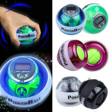 Gyroscope LED Power Gyro Force Ball Wrist Exercise W/ Speed Meter Counter  #F8s