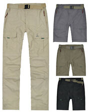 Mens Hiking Travel Climbing  Zip Pocket Convertible Cargo Pants Trousers NWT
