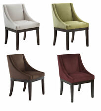 NEW Ave Six Monarch Wingback Fabric & Wood Leg Accent Chair Dining Room Seating