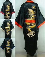 Silk Japanese Chinese Kimono Dressing Gown Bath Robe