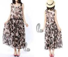 Casual Womens double Layered Chiffon Cocktail Party Beach Dress AU SELLER dr106