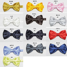 Classic Fashion Solid Satin Women's Adjust Tuxedo Wedding Party Bow Tie Necktie