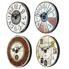 Wooden Wall Clock Digital Vintage Rustic Shabby Chic Acrylic Home Xmas Decor Art