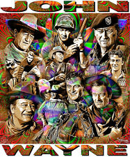 JOHN WAYNE TRIBUTE T-SHIRT OR PRINT BY ED SEEMAN
