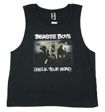 Beastie Boys Check Your Head Girls Juniors Black Tank Top Shirt New Blackheart