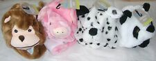 Children's Animal Hat Scarf And Gloves Combo New