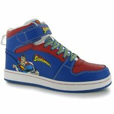 Superman Kids Childrens Hi Tops Lace Up Footwear Trainers Sneakers Sport Shoes