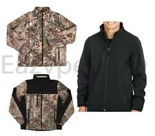 PEACHES PICK REALTREE XTRA HUNTER CAMO BLACK Soft Shell Active Jacket Mens S-5XL