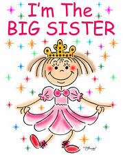 BIG SISTER T-SHIRT-PRINCESS DESIGN BY ED SEEMAN - FREE CUSTOMIZING