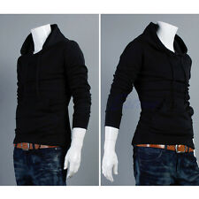 New Men's Slim Fit Sexy Top Designed Hoodies Jackets Coats Long Sleeve Sweater