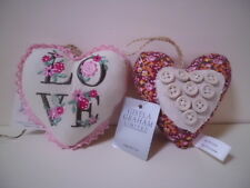 Gisela Graham Vintage Shabby Chic Fabric Hanging Heart  NEW You Choose 2 designs