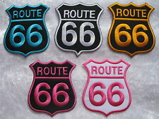 Patch à repasser brodé route 66 motard moto rock us american highway