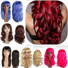 Clearance Sale Fashion Womens Long Anime Cosplay Wig Full Hair Wigs Party gd73