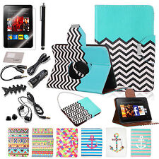 Hybrid Rotating PU Leather Case Stand Accessory For Amazon Kindle Fire HD 7 2012