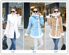 Women Thicken Fleece Warm Faux Fur Winter Coat  Hood Parka Overcoat Jacket