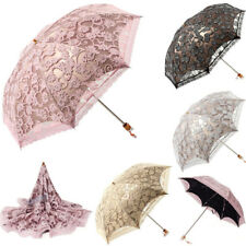 New Lace Princess Parasol Sun/Rain/Snow Anti-UV Folding Wedding Bridal Umbrella