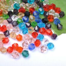 Wholesale mixed color Czech Crystal Bicone Beads 4MM 6MM 8MM