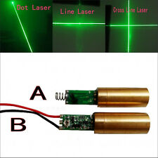 Sale 12mm Green 350mA Dot/Cross Line Laser Module with Driver Spring/Wire 10mW