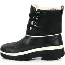 New Lace Up Womens Winter Snow Warm Black Waterproof Light Boots Shoes