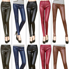 HOT Fashion Women's Sexy Skinny Faux Leather High Waist Leggings Pants Women