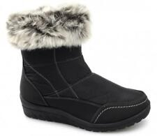 Dr Keller MIRIAM Womens Ladies Faux Fur Warm Zip Casual Ankle Winter Boots Black