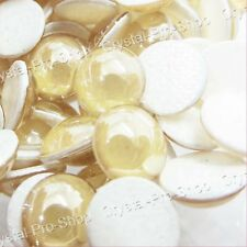 Genuine Swarovski Golden Shadow Hotfix Pearl Iron on Gem Glass Beads 3mm 4mm 7mm
