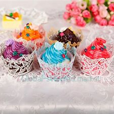 Laser Cut Butterfly Cupcake Wraps Wedding Birthday Cup Cake Wrappers Cases GSM