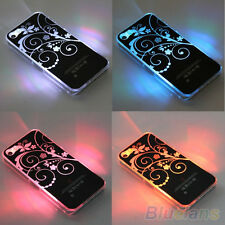Cool Sense Flash LED Color Changing Light Flower Case Cover For iPhone 4 4S 5 5S