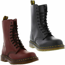 Dr Martens Boots 1490 Smooth Unisex 10 Eyelet Leather Boots Size UK 4 - 13