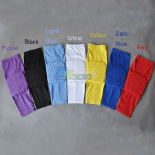 Child Kids Honeycomb Foam Pad Crashproof Basketball Leg Knee Long Sleeve XS S