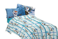 Disney Frozen OLAF Build A Snowman Microfiber SHEET SET or COMFORTER-Super Soft