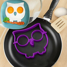 Kitchen Silicone Owl Egg Shaper Make Owl Shaped Fried Eggs Fun Cute Mold Ring