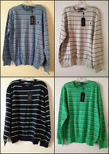 NEW POLO RALPH LAUREN MEN`S CrewNeck Striped Pima Cotton Lightweight Sweater