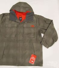 New with tag Mens The North Face W Brown Alki Hooded HyVent Shell Jacket XL