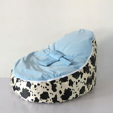 New UNFILLED Cow Print 2 Layer Baby Bean Bag Chair/Bed Todler Kid Portable Seat
