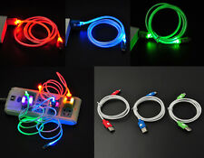 for Android Samsung Sony hTC LED Visible Light Micro USB Charge Data Sync Cable
