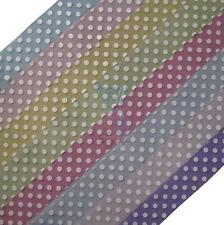 25mm Crafting Ribbon with Polka Dot Pattern 5 Metre Rolls - 8 colours
