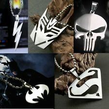 NEW Cosplay Marvel Super Hero Steel Chain Pendant Necklace Anime Fashion Gifts