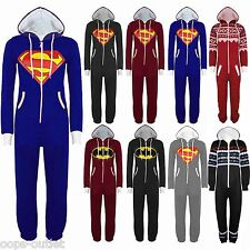 Womens Mens Superman Batman Onesie Playsuit Ladies All In One Piece Jumpsuit New