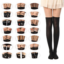 Womens Sexy Thin Kitten Cat Stockings Velvet Tattoo Ladys Cute Pantyhose Tights