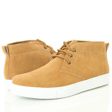 Camel High Top LaceUp Flat Platform Men Fashion Sneaker Chukka Casual Ankle Boot