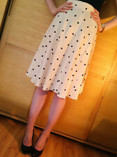 New RIVER ISLAND Polka Dot Spotted Midi Skirt Size 6 8 10 12 14 16 18 RRP £28