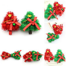 Pop Christmas Tree Style Girl Baby Hair Hoop Band With Bow Bell Hairpin Clip