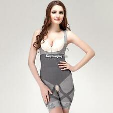 Natural Bamboo Charcoal Body Shaper Underwear Slimming Suit bodysuits ES9P