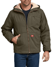 DICKIES SHERPA LINED HOODED JACKET SANDED DUCK BROWN, Mens M, L, XL, 2XL, 3XL