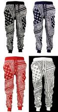 New Imperious Bandana Paisley Print Drop Crotch Slim Fit Cotton Joggers S-2XL
