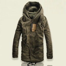Hot Winter Mens Military Trench Coat Ski Jacket Hooded Parka Thick Cotton