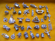 OO VARIOUS VINTAGE STERLING SILVER CHARM SENTRY IMP YACHT THRONE TOBY JUG ABACUS