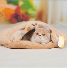 Comfy Lovely Paw Shape Cat Sleeping Bag Bed Nest Kennel Kitten Thermal Hiding H