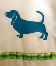 Basset Hound Shower Curtain - Color choices